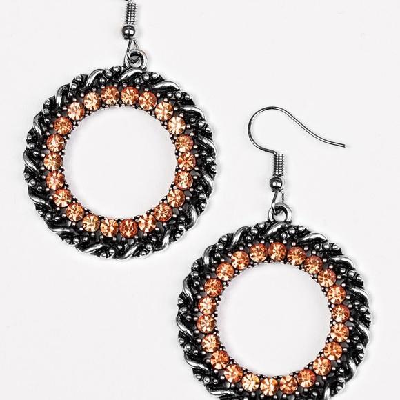 Paparazzi Orange and Black Dangle Earrings NWT